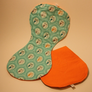 Wise Owls baby burp cloth by Susan Kendal/Pocket Alchemy (2013).