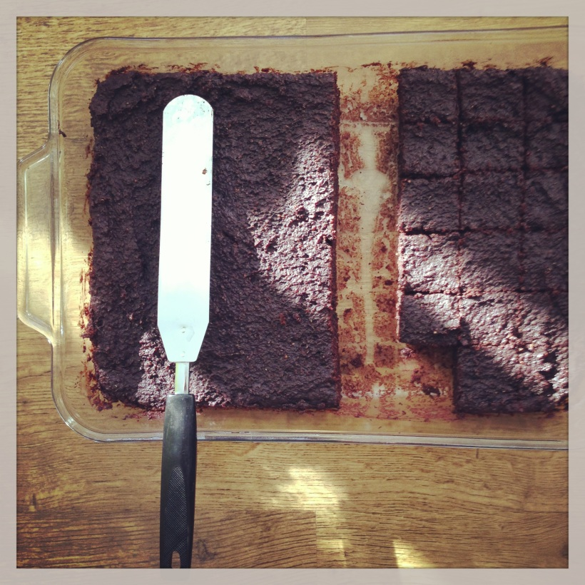 Quinoa Brownies in the morning sun. Yes, it's true/obvious, I did indeed get an iPhone for christmas. And yes I'm currently obsessed with taking pictures of food and daily minutia on Instagram and Hipstamatic. It may or may not pass ...