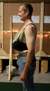 Mike was such a great sport in Bertha's low hanging breasts.
