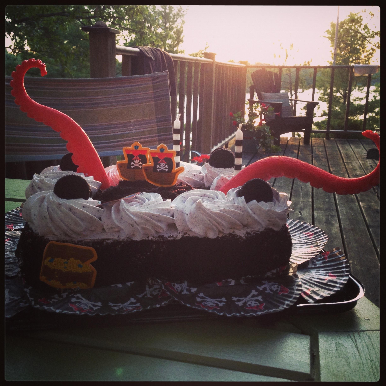 Kraken cake.