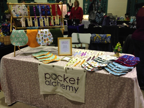 My first craft fair table, hurray!